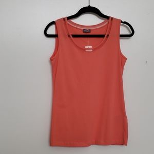 New Basler Coral Pink Tank Top Size 6
